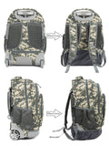 Tilami Boy 18 Inch Rolling Backpack Armor Luggage School Travel Book Laptop 18 Inch Multifunction Wheeled Backpack Camouflage - Tilamibag