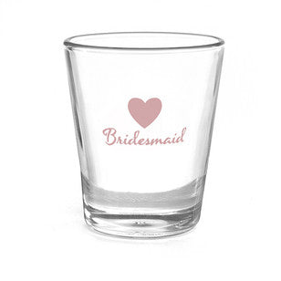 Bridesmaid Heart Shot Glass, [Premier Gifts and Balloons], Wedding Gifts, Premier Gifts 'n Balloons