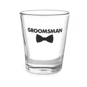 Groomsman Bow Tie Shot Glass, [Premier Gifts and Balloons], Event Decorations, Premier Gifts 'n Balloons