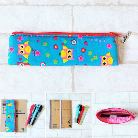 Pencil Pouch Book Band | Pencil Holder | Owl Design 5