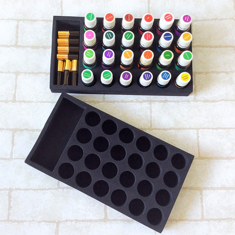 24 Holes Foam Inserts for Essential Oil Display | Essential Oil Display Foam | Essential Oil Bottles Storage Display