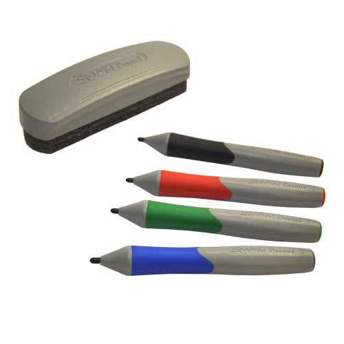 Four Replacement Pens and an Eraser for the SMART Board 600 and 500 Series