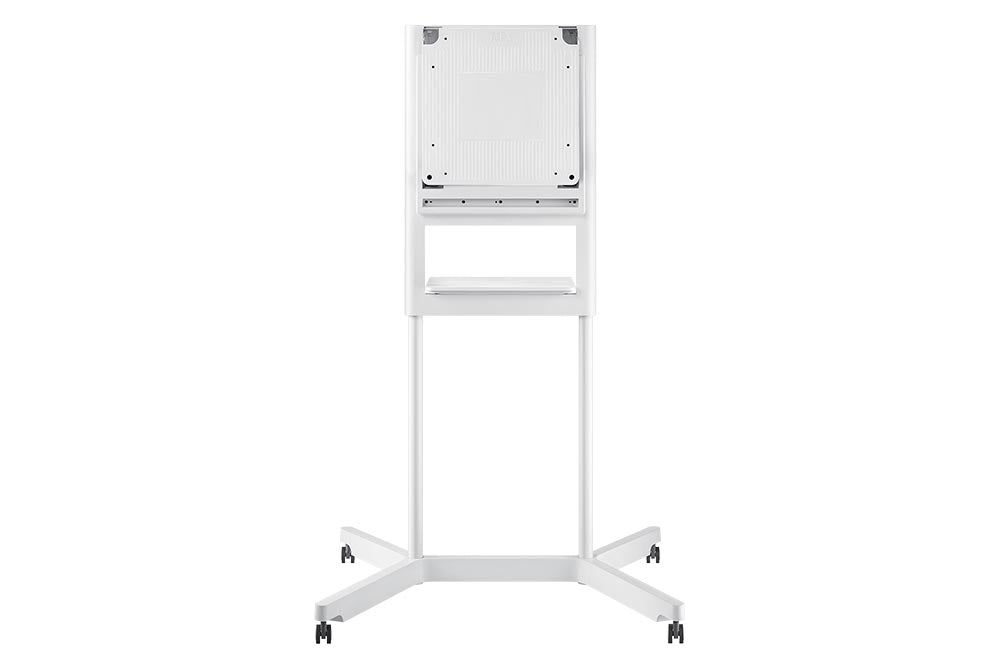 This mobile stand for the Samsung Flip Digital Flipchart enables you to be peak efficiency by eliminating location related limitations. The spacious front tray can assist you in keeping all necessities at the tip of you finger while staying organized.