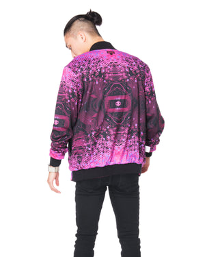 """HACKER"" varsity jacket male reversed"