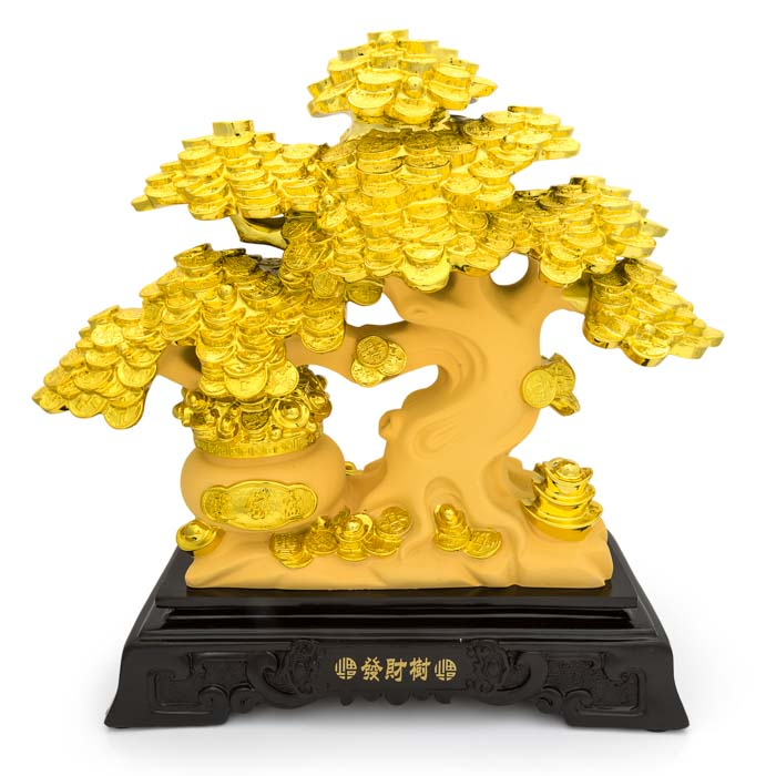 HF133B6 Gold money tree figure