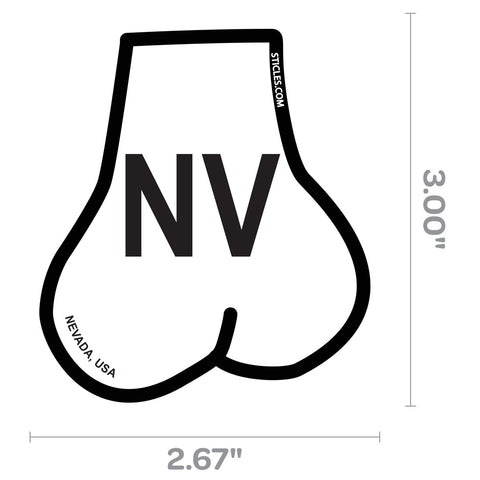 Balls Shaped State of Nevada Oval Sticker