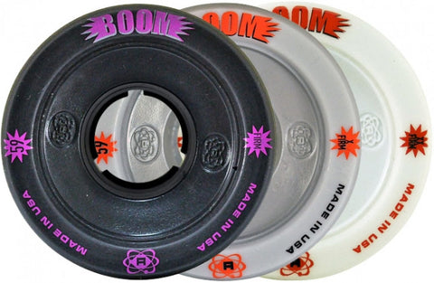 ATOM Boom Hollow Core 59mm Quad Derby Wheels Grey 4pk Firm - Momma Trucker Skates