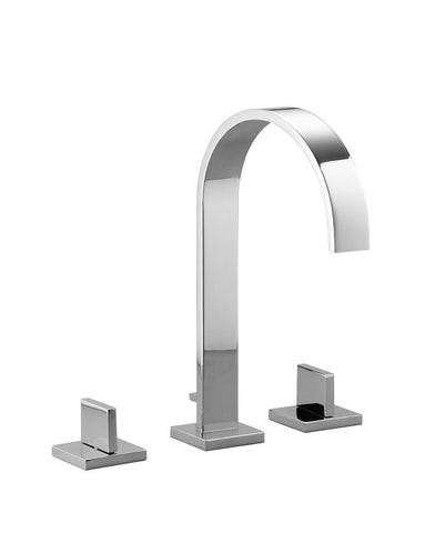Mem Three Hole Lav Faucet Extended Reach