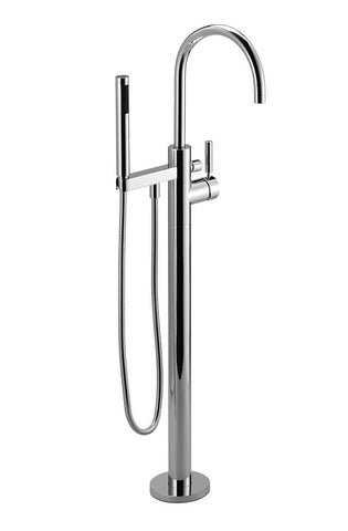 Tara.Logic Floor Mounted Tub Filler With Handshower