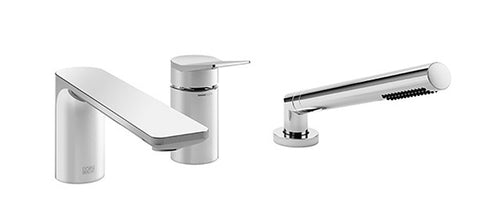 Lisse Tub Filler With Baton - 3 Hole