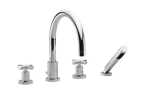 Tara. Tub Filler with Baton - 4 Hole