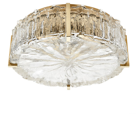 Marlon Ceiling Flush Mount with Glass Shade