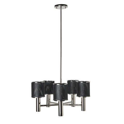 Montecito Ceiling Mounted Chandelier with Perforated Shades