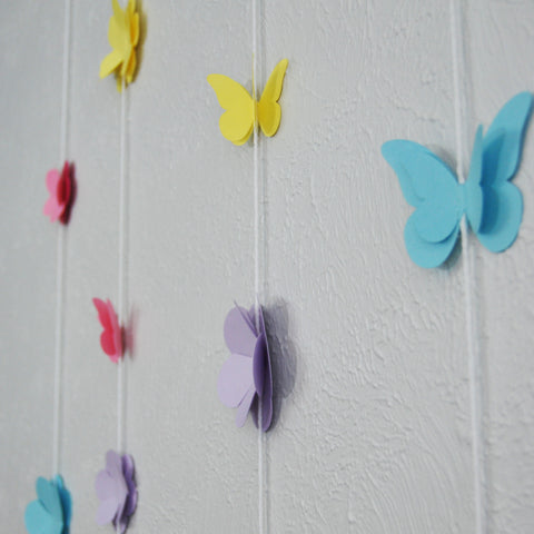 Butterfly and Wildflower Garland