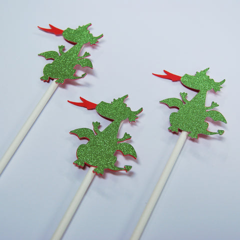 Dragon Cupcake Toppers