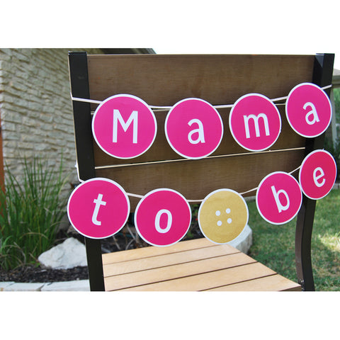 """Cute As A Button"" ""Mama To Be"" Baby Shower Banner"