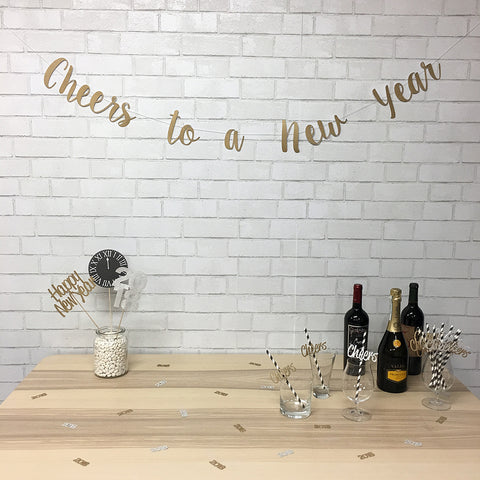 "2019 ""Cheers To A New Year"" New Year's Eve Party Bundle"