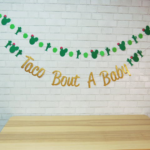 """Taco Bout A Baby"" Banner"