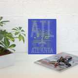 "RWY23 - ATL Atlanta Airport Diagram Poster - Aviation Art - Birthday Gift, Christmas Gift, Home and Office Decor - 8""x10"" Desk"