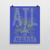 "RWY23 - ATL Atlanta Airport Diagram Poster - Aviation Art - Birthday Gift, Christmas Gift, Home and Office Decor - 16""x20"" Wall"