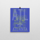 "RWY23 - ATL Atlanta Airport Diagram Poster - Aviation Art - Birthday Gift, Christmas Gift, Home and Office Decor  - 8""x10"" Wall"