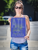 "RWY23 - ATL Atlanta Airport Diagram Poster - Aviation Art - Birthday Gift, Christmas Gift, Home and Office Decor - 12""x16"" Person"