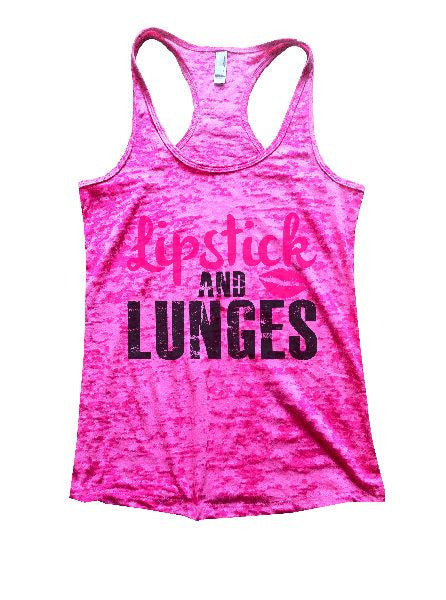 Lipstick And Lunges Burnout Tank Top By BurnoutTankTops.com - 1191 - Funny Shirts Tank Tops Burnouts and Triblends  - 6
