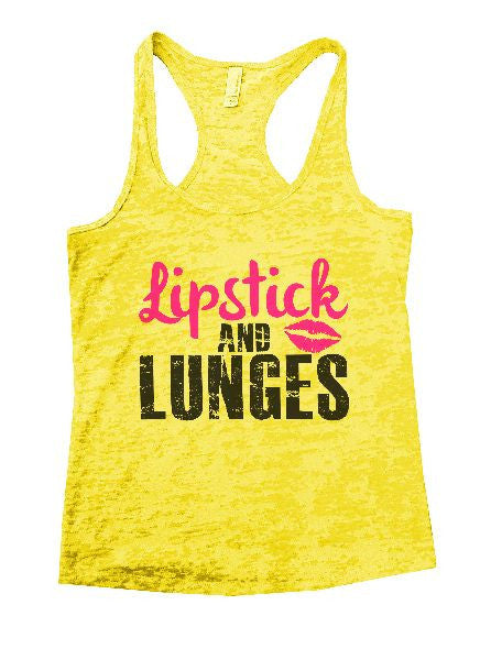 Lipstick And Lunges Burnout Tank Top By BurnoutTankTops.com - 1191 - Funny Shirts Tank Tops Burnouts and Triblends  - 7