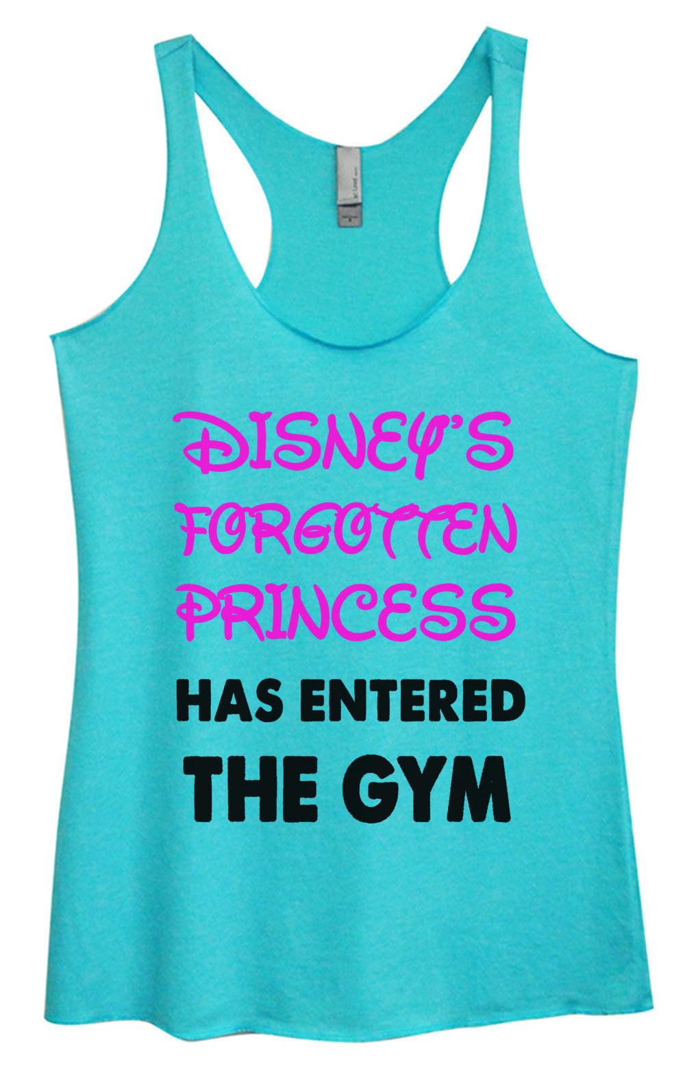 Womens Fashion Triblend Tank Top - Disney's Forgotten Princess Has Entered The Gym - Tri-528 - Funny Shirts Tank Tops Burnouts and Triblends  - 3