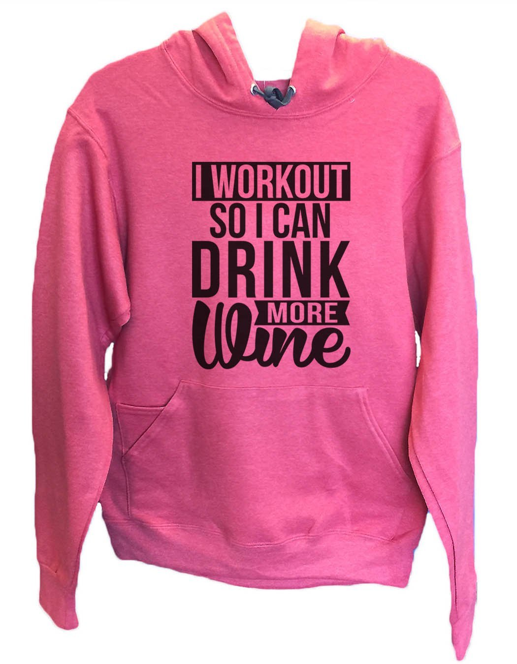 UNISEX HOODIE - I Workout So I Can Drink More Wine - FUNNY MENS AND WOMENS HOODED SWEATSHIRTS - 2133 Funny Shirt Small / Cranberry Red