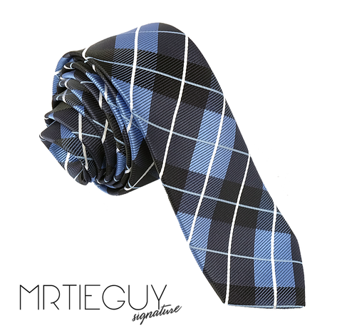 BLACK AND BLUE TARTAN - MR TIE GUY - For The Daring & Dapper™