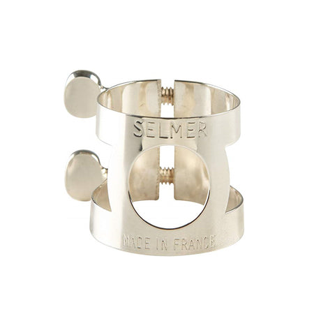 Selmer Paris Bb Clarinet Mouthpiece Ligature, Silver Plated