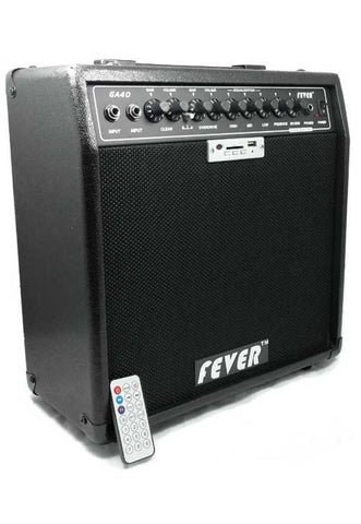 Fever 40 Watts Guitar Combo Amplifier with USB and SD Audio Interface with Remote Control