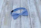 (42-64)  Blue Bow Tie and/or Suspenders - Mr. Bow Tie