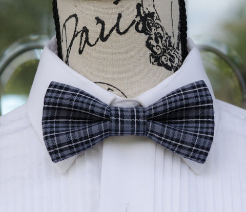 Gray/Black Plaid Bow Tie - Mr. Bow Tie