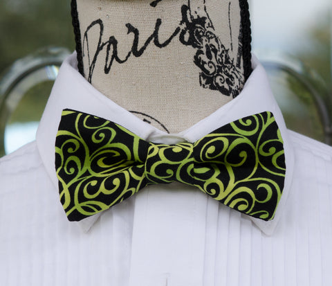 Lemon Lime Swirl Bow Tie - Mr. Bow Tie