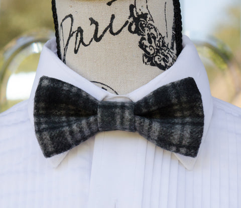 Black/Gray Winter Bow Tie - Mr. Bow Tie