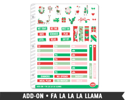 Add-On • Fa La La La Llama Planner Stickers - Planner Penny