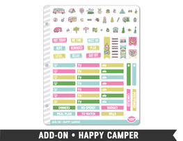 Add-On • Happy Camper Planner Stickers - Planner Penny