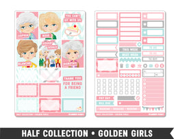 Half Collection • Golden Girls • Weekly Spread Planner Stickers - Planner Penny