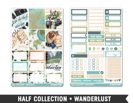 Half Collection • Wanderlust • Weekly Spread Planner Stickers - Planner Penny