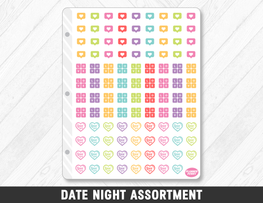 Date Night Assortment Planner Stickers - Planner Penny