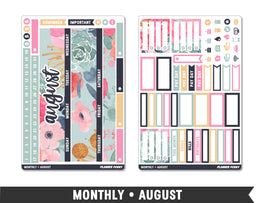 Monthly Collection • August Planner Stickers - Planner Penny