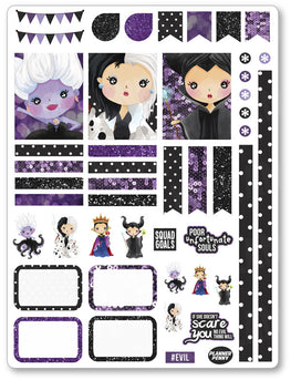 Evil Women Decorating Kit PDF PRINTABLE Planner Stickers - Planner Penny