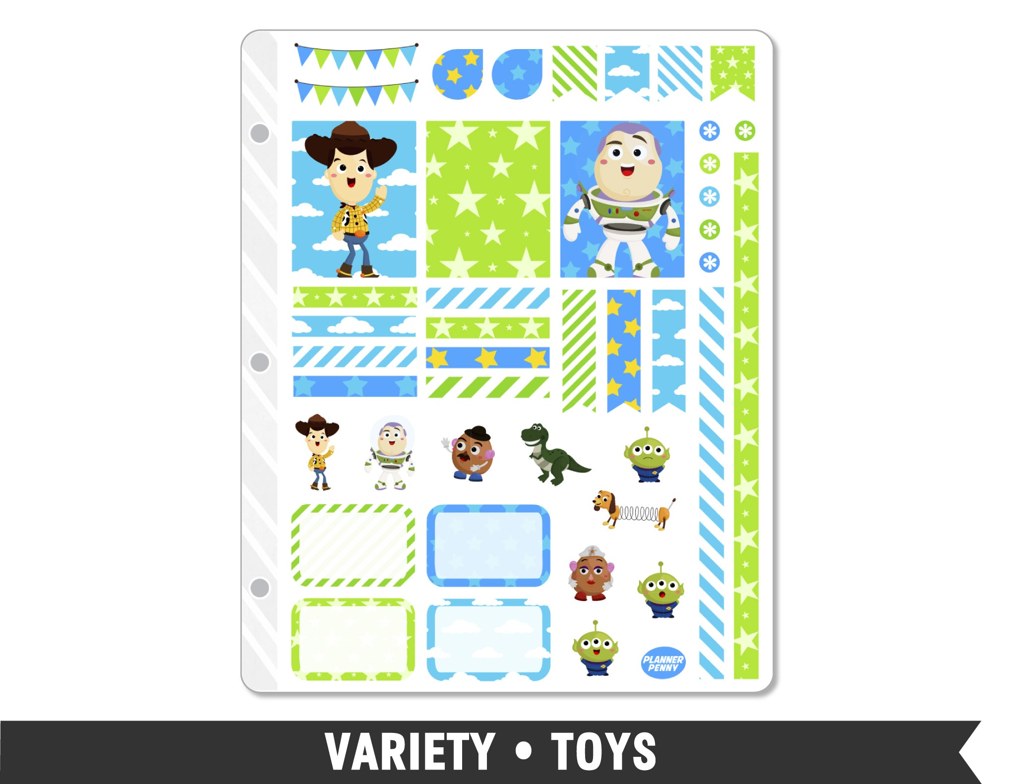 Variety • Toys Weekly Spread Planner Stickers