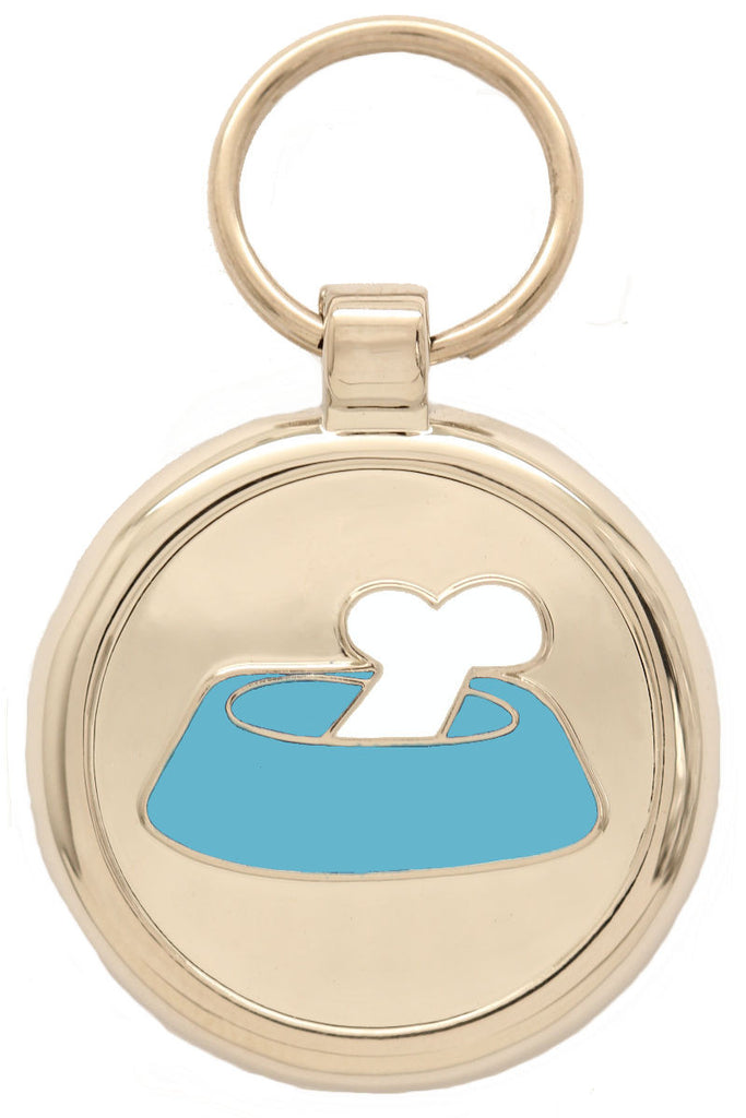 Sky Blue Bone'N'Bowl Pet Tag - Pawprint Pet Tags