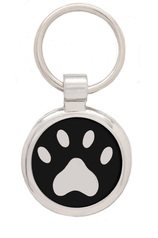 Extra Small Pink Pawprint Pet Tag