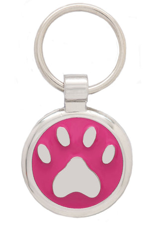 Extra Small Blue Pawprint Pet Tag