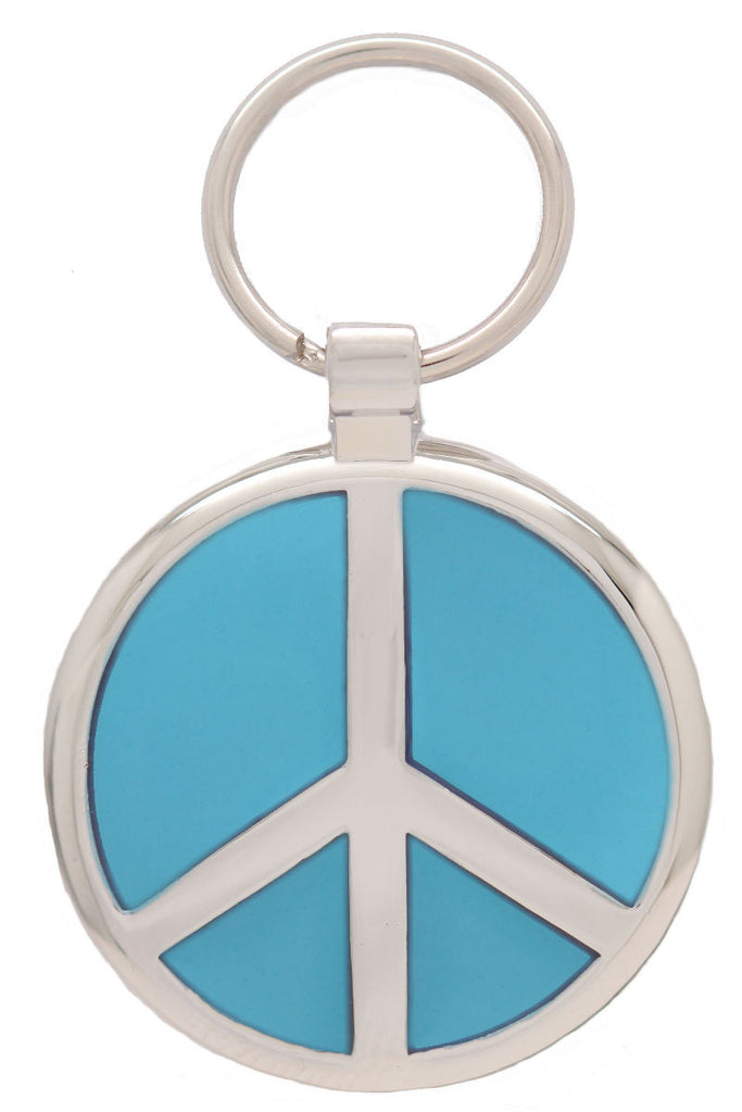 Sky Blue Peace Pet Tag - Pawprint Pet Tags