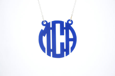 Acrylic Pendant Necklace with Chain
